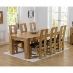 Thames 180cm Oak Dining Table with Louis Chairs