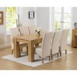 Thames 180cm Oak Dining Table with Cannes Chairs