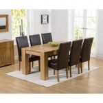 Thames 180cm Oak Dining Table with Rustique Chairs