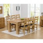 Thames 180cm Oak Dining Table with Vermont Chairs