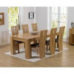 Thames 220cm Oak Dining Table with Montreal Chairs