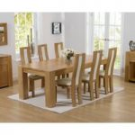 Thames 220cm Oak Dining Table with Cream Toronto Chairs