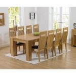 Thames 220cm Oak Dining Table with Monaco Chairs