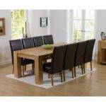Thames 220cm Oak Dining Table with Rustique Chairs