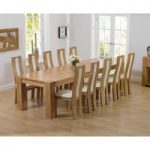 Thames 300cm Oak Dining Table with Cream Toronto Chairs