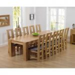 Thames 300cm Oak Dining Table with Louis Chairs