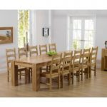 Thames 300cm Oak Dining Table with Timber Vermont Chairs