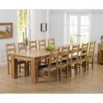 Thames 300cm Oak Dining Table with Vermont Chairs
