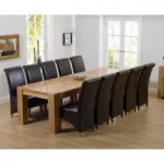 Thames 300cm Oak Dining Table with Brown Kentucky Chairs