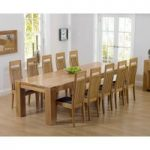 Thames 300cm Oak Dining Table with Monaco Chairs