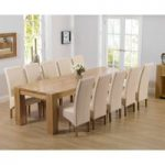 Thames 300cm Oak Dining Table with Cannes Chairs