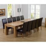 Thames 300cm Oak Dining Table with Rustique Chairs