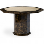 Tamarro 120cm Octagonal Marble Effect Dining Table