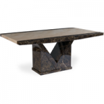 Tamarro 220cm Marble Effect Dining Table