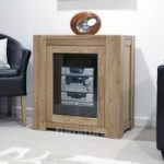 Trend Oak Glazed Hi-Fi Unit
