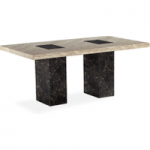 Brittoli 80cm Marble Effect Dining Table