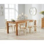 Verona 150cm Solid Oak Dining Table with Tolix Industrial Style Dining Chairs