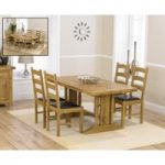 Cavendish 165cm Oak All Sides Extending Table With Vermont Chairs