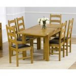Rustique 120cm Solid Oak Extending Dining Table with Vermont Chairs