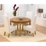 Verona 110cm Solid Oak Round Dining Table with Venezia Chairs