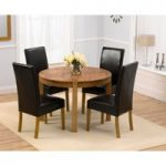 Verona 110cm Solid Oak Round Dining Table and Rustique Chairs