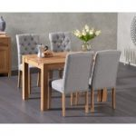 Verona 120cm Solid Oak Dining Table with Candice Chairs