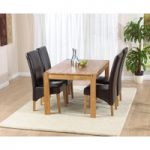 Verona 120cm Solid Oak Dining Table with Venezia Chairs