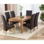 Verona 150cm Solid Oak Dining Table with Cannes Chairs