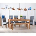 Verona 180cm Solid Oak Dining Table with Benches and Cannes Chairs