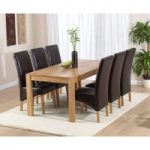 Verona 180cm Solid Oak Extending Dining Table with Cannes Chairs