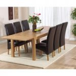 Verona 180cm Solid Oak Extending Dining Table with Venezia Chairs