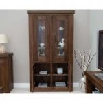 Novara Walnut and Glass Display Cabinet