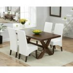 Bordeaux 165cm Dark Oak All Sides Extending Table with WNG Chairs