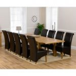 Rustique 220cm Solid Oak Extending Dining Table with Kentucky Chairs