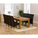 Rustique 220cm Solid Oak Extending Dining Table with Venezia Chairs