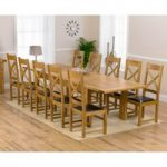 Rustique 220cm Solid Oak Extending Dining Table with Cheshire Chairs