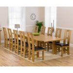 Rustique 220cm Solid Oak Extending Dining Table with Louis Chairs
