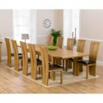 Rustique 220cm Solid Oak Extending Dining Table with Montreal Chairs