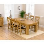 Loire 230cm Solid Oak Extending Dining Table with Cheshire Chairs
