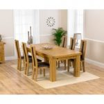 Loire 230cm Solid Oak Extending Dining Table with Toronto Chairs
