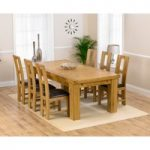 Loire 230cm Solid Oak Extending Dining Table with Louis Chairs