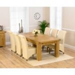 Loire 230cm Solid Oak Extending Dining Table with Kentucky Chairs