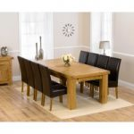 Loire 230cm Solid Oak Extending Dining Table with Rustique Chairs