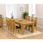 Loire 230cm Solid Oak Extending Dining Table with Monaco Chairs