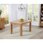 Yateley 130cm Oak Extending Dining Table