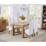 Yateley 130cm Oak Extending Dining Table with Venezia Chairs