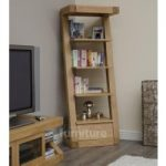 Z Solid Oak Designer Narrow Bookcases