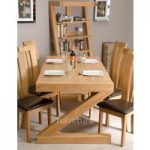 Z Solid Oak 180cm Dining Table