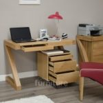 Z Solid Oak Designer Small Desk