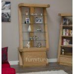 Z Designer Solid Oak and Glass Display Cabinet